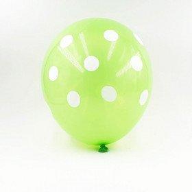 6 ballons verts à pois 30 cm