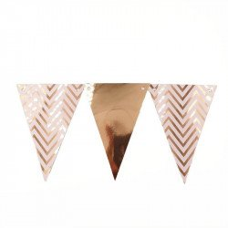 Guirlande fanion chevron rose gold
