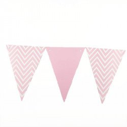 Guirlande fanion chevron rose