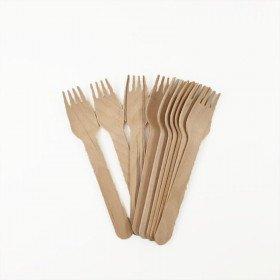 10 fourchettes en bois