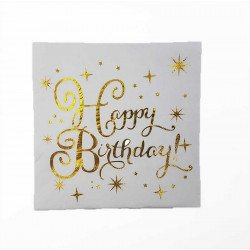Serviette Happy birthday étoiles (paquet de 20)