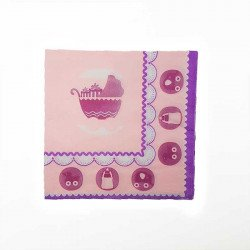 Serviette babyshower fille