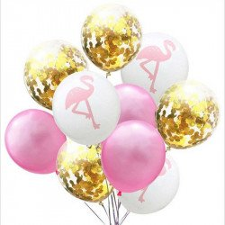 Kit ballons flamant rose