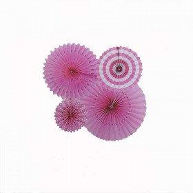 Kit 4 rosaces papier rose