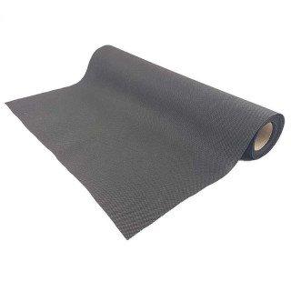 Chemin de table noir effet tissus