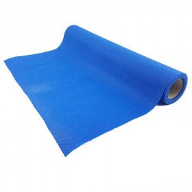 Chemin de table bleu roi effet tissus