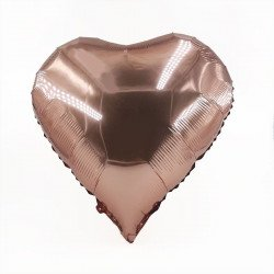 Ballon coeur rose gold aluminium