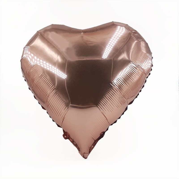 Ballon coeur rose gold aluminium