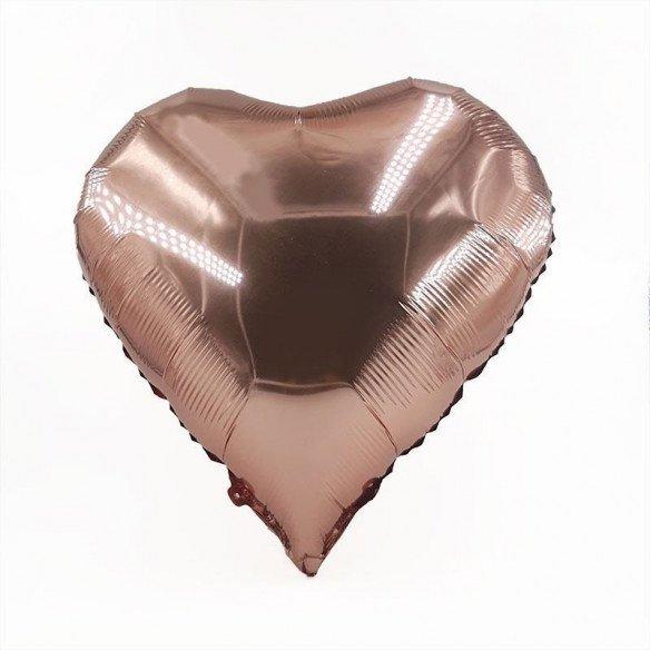 Ballon coeur rose gold mylar