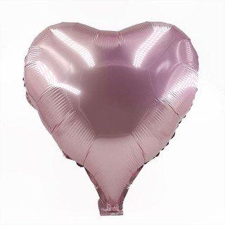 Ballon coeur rose clair mylar