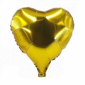 Ballon coeur doré mylar