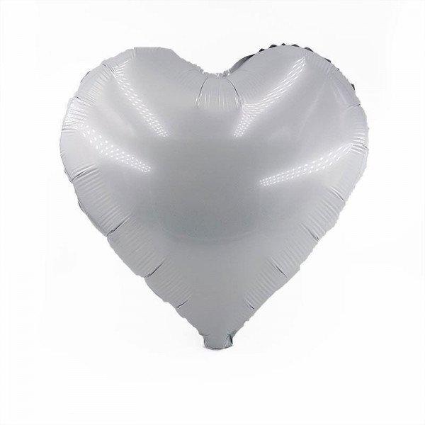 Ballon coeur blanc mylar