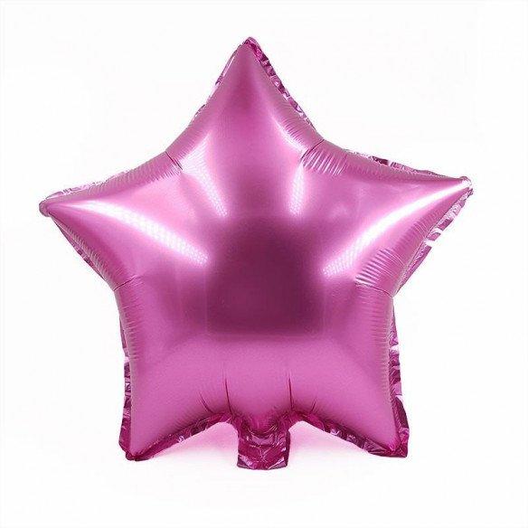Ballon étoile rose mylar