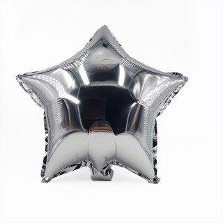 Ballon étoile argent mylar