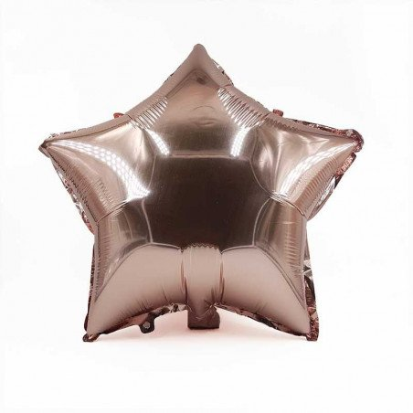Ballon étoile rose gold mylar