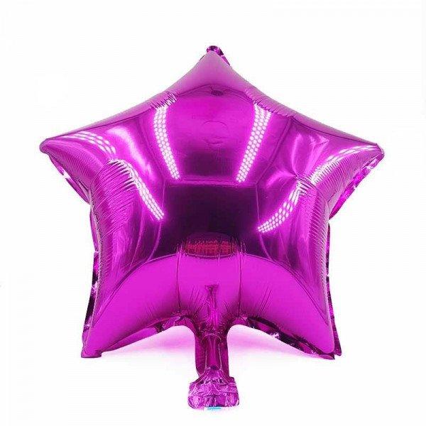 Ballon étoile fushia mylar