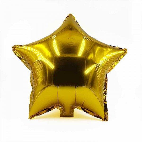 Ballon étoile or mylar