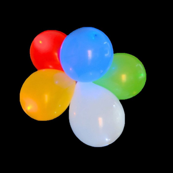 5 ballons couleurs à LED