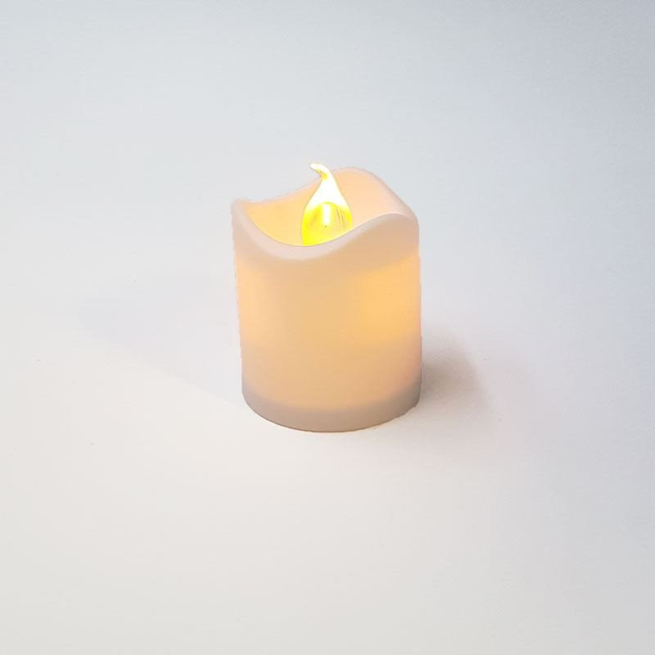 Bougie LED jaune