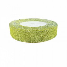 Ruban métallic vert anis 2cmx20m