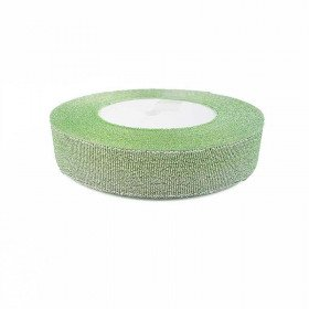 Ruban métallic vert pastel 2cmx20m