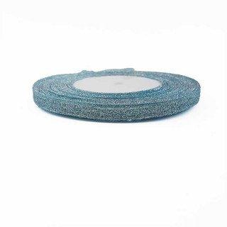 Ruban métallisé turquoise 6mmx20m
