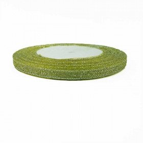 Ruban métallisé vert anis 6mmx20m