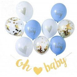 Kit guirlande et ballons baby shower garcon
