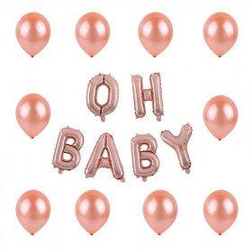 Kit ballon oh baby rose gold