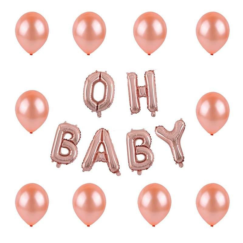 Kit ballon oh baby rose gold