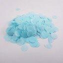 Confettis rond papier bleu clair (sachet 25g)
