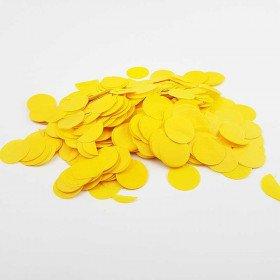 Confettis rond papier jaune (25g)