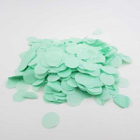 Confettis rond papier vert d'eau (sachet de 25g)