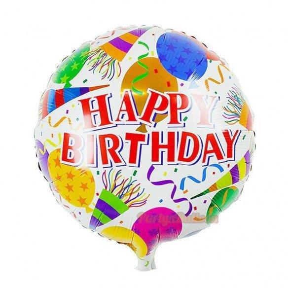 Ballon rond joyeux anniversaire