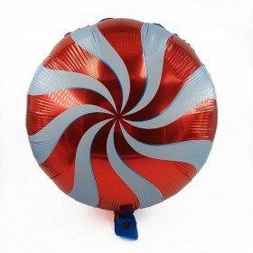 Ballon mylar sucette rouge 34cm