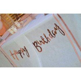 Guirlande happy birthday rose gold