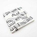Serviette papier note de musique x20