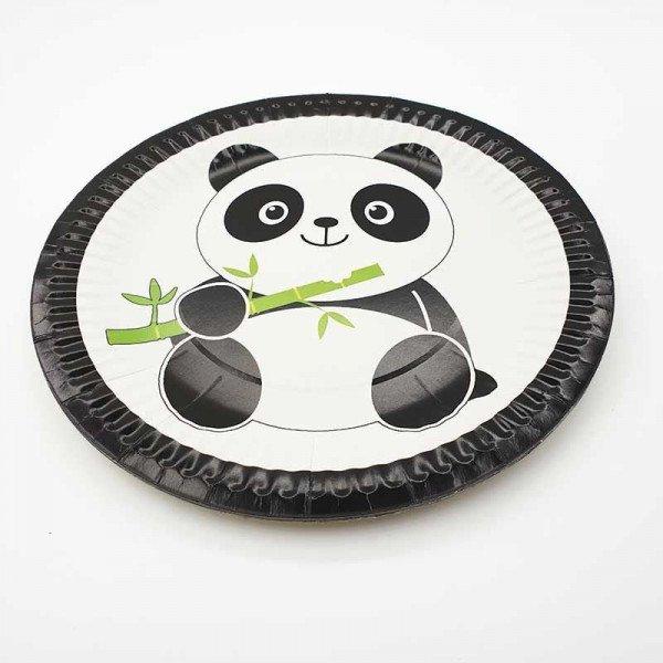 10 Assiettes carton panda