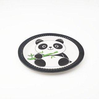 10 Petites assiettes panda