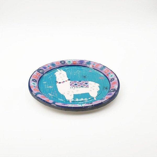 10 Petites assiettes lama