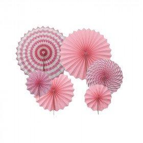 Kit 6 rosaces papier rose