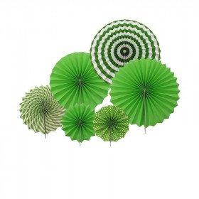 Kit 6 rosaces papier vert