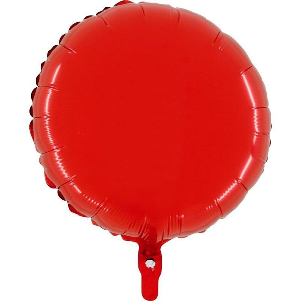 Ballon mylar rond rouge 45cm