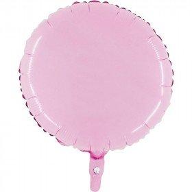 Ballon mylar rond rose clair 45cm