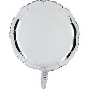 Ballon mylar rond argent 45cm
