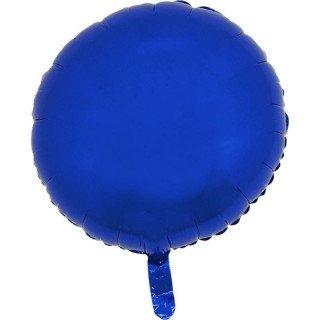 Ballon mylar rond bleu foncé 45cm