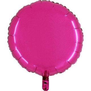 Ballon mylar rond fushia 45cm