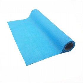 Chemin de table bleu turquoise effet tissus (5m)