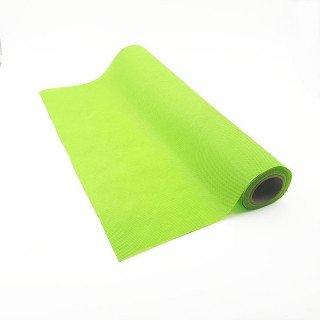 Chemin de table vert pomme effet tissus (5m)