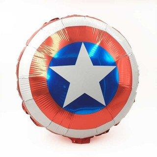 Ballon mylar rond captain america